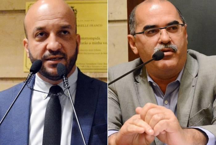 Os vereadores Felipe Michel e Renato Moura