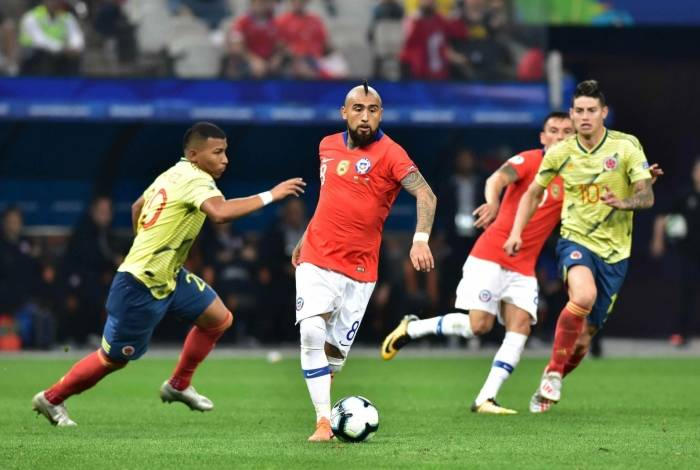 Chile venceu a Colômbia