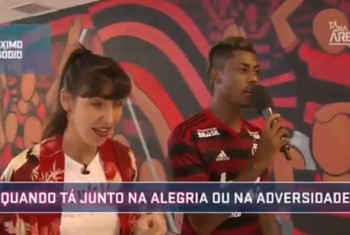 Desafinação de Bruno Henrique chamou a atenção
