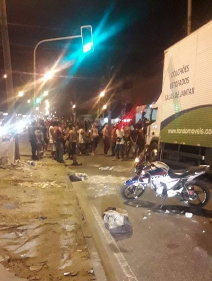 Estrada Rio do Pau após manifestações