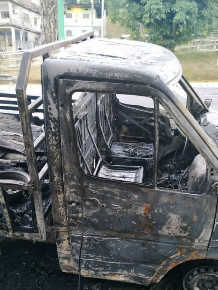 Corpos estavam na caçamba do caminhão