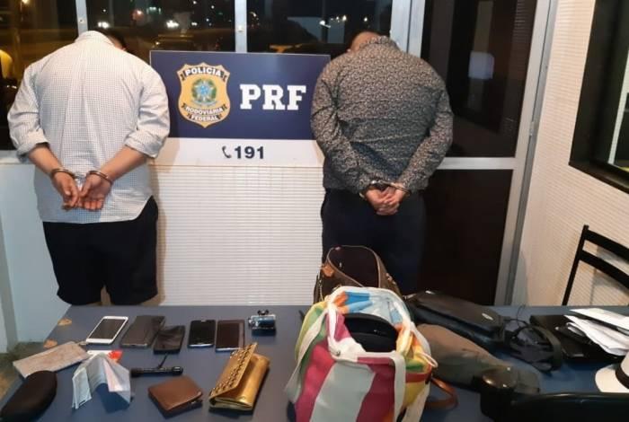 Chilenos foram presos pela PRF