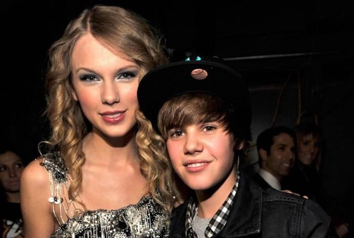Taylor Swift e Justin Bieber na época em que ainda eram 'amigos'
