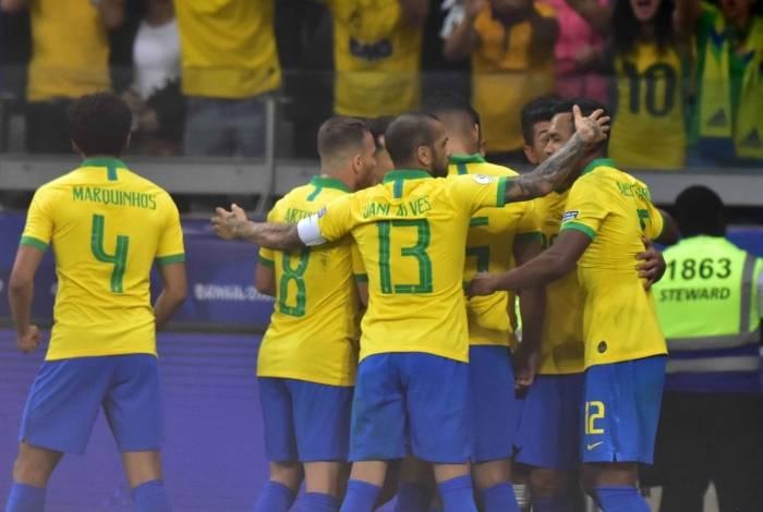 Brasil derrotou a Argentina