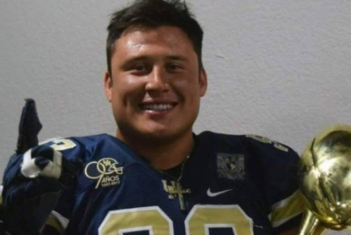 Óscar Ramírez Ortiz era jogador de futebol americano no México e tinha 26 anos de idade