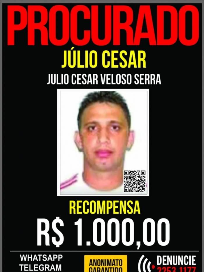 Júlio Cesar Veloso Serra, o Cabelo, foi preso nesta terça-feira antes de entrar em um lugar usado como esconderijo em Rio das Pedras, Zona Oeste do Rio