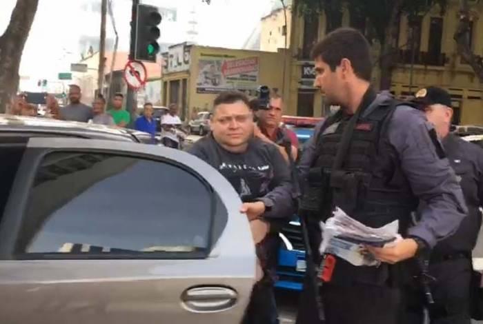 O PM Clayton da Silva Novaes foi um dos alvos da operação desta quarta