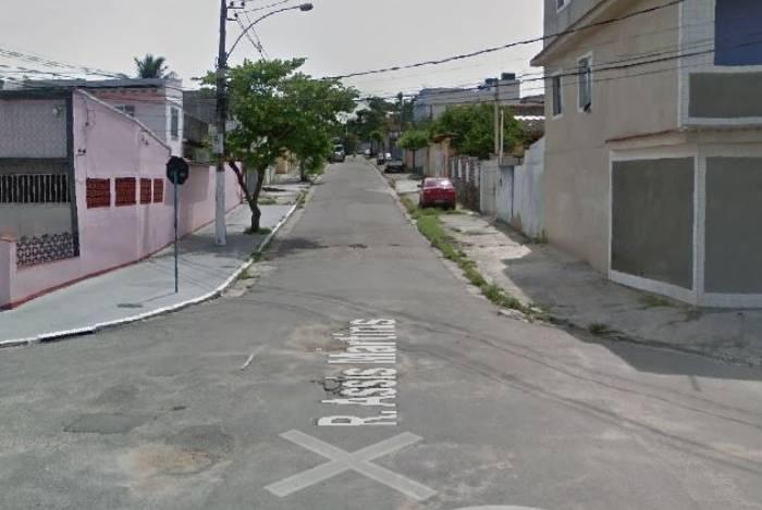 Rua Assis Martins onde ocorreu o crime