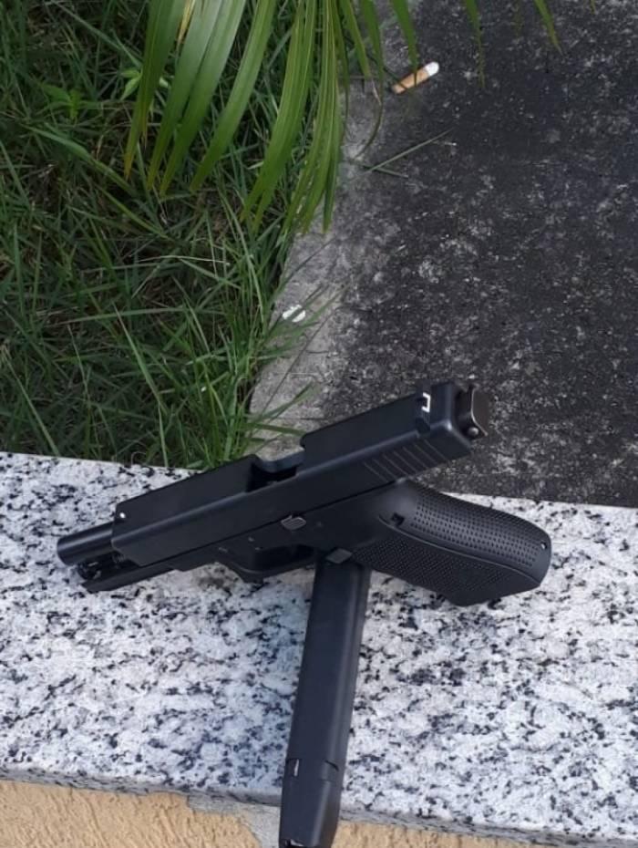 Arma apreendida durante ação