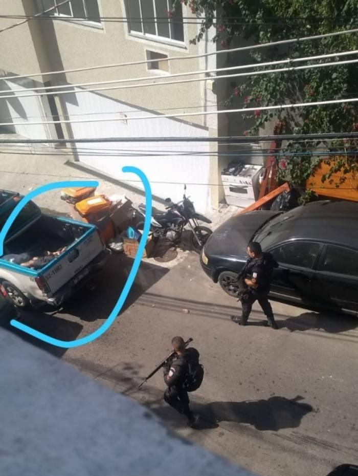 Foto seria de uma ação no Vidigal em que um suspeito ficou ferido