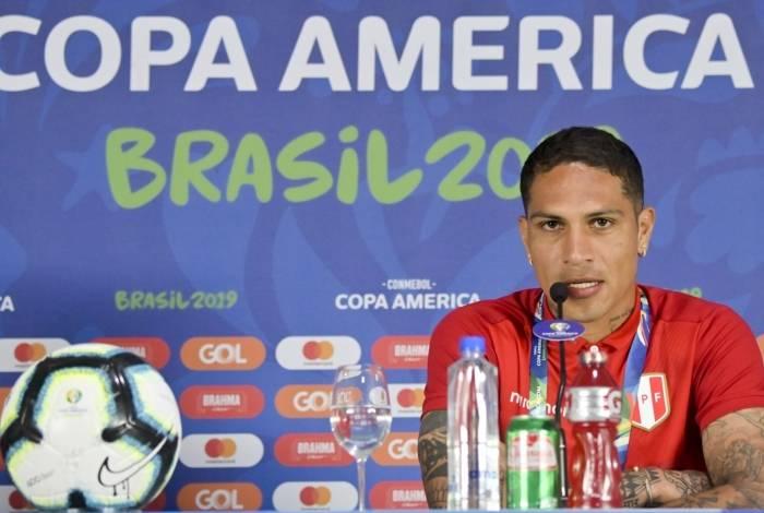 Principal jogador da seleção peruana, Guerrero lavou a alma ao chegar à decisão da Copa América