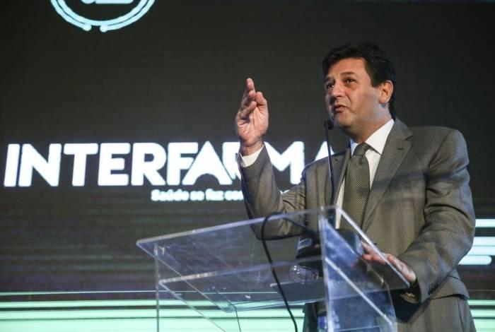 O ministro da Saúde, Luiz Henrique Mandetta, participa em Brasília, da abertura do Seminário Interfama - Inovação Tecnológica na Saúde e o Valor para o Paciente