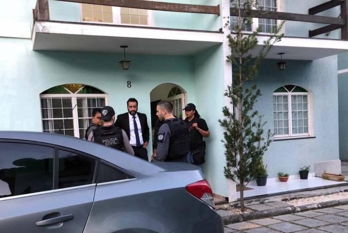 Casa onde o PM Fábio Nascimento de Souza, o 'China', foi preso. Ele integrava uma milícia que atuava em Itaboraí