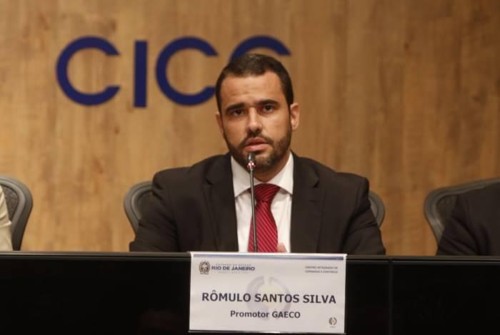 O promotor do Gaeco, Rômulo Santos Silva