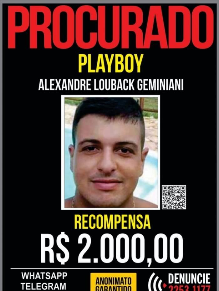Ex-PM Alexandre Louback Geminiani, conhecido como Playboy