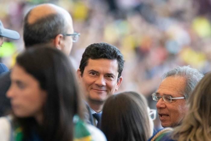 Ex-ministro da Justiça, Sergio Moro e Witzel