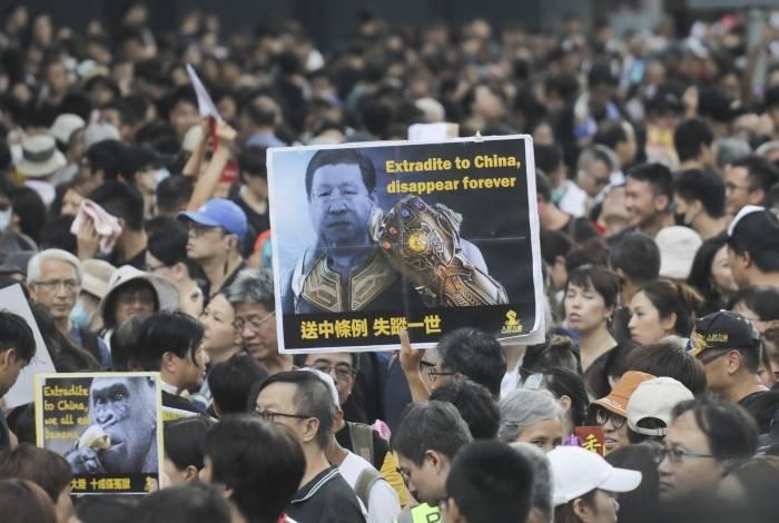 Protestos aconteceram na estação ferroviária de West Kowloon