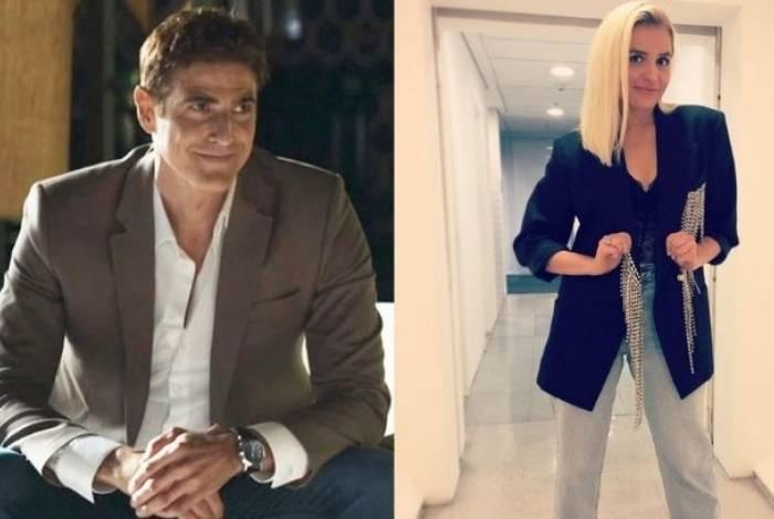Reynaldo Gianecchini e Monica Iozzi se divertem nos bastidores de 'A Dona do Pedaço'