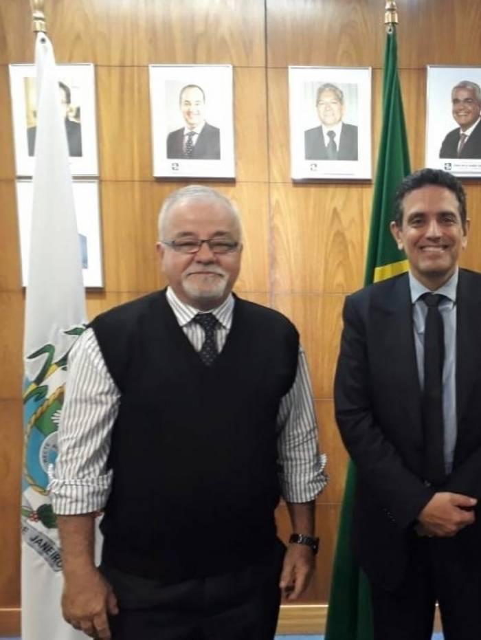 Sérgio Aureliano e Leonardo Rolim definiram estratégias para articulação na Câmara dos Deputados