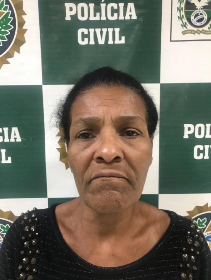 Jailma Fontes da Silva, de 56 anos, foi presa por tentativa de homicídio contra o cunhado