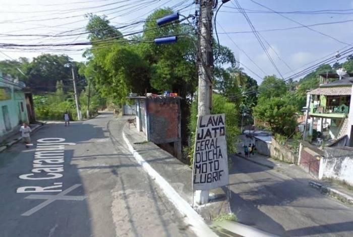 Região da comunidade do Caramujo, em Niterói