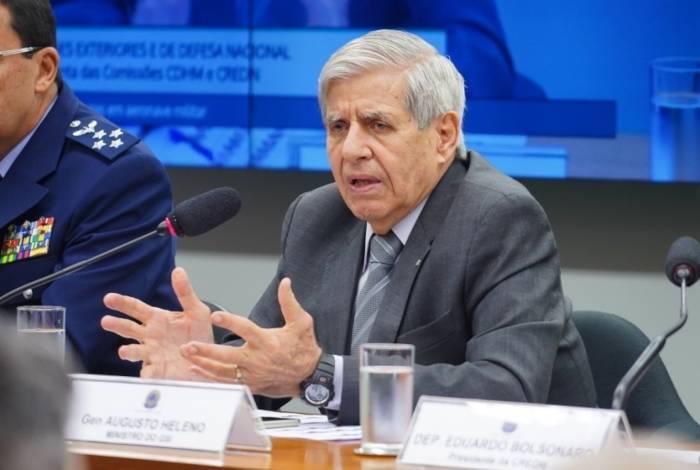General Heleno, ministro do Gabinete de Segurança Institucional