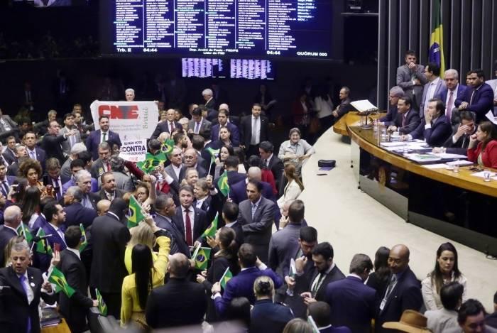 Deputados comemoraram votação da Reforma da Previdência na Câmara dos Deputados