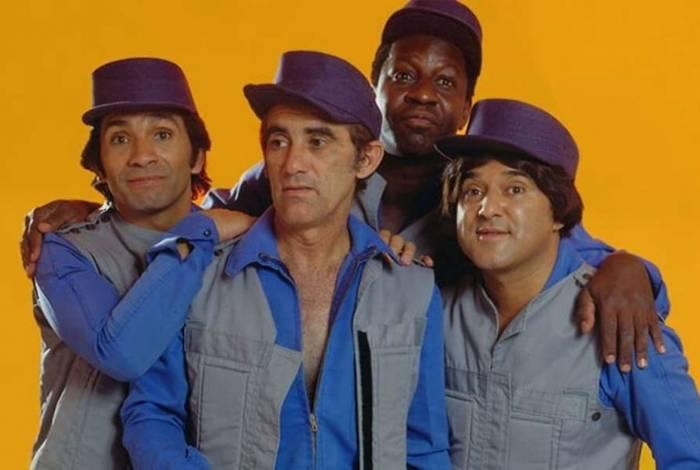 Série e filme 'Trapalhadas Sem Fim', dirigido por Rafael Spaca (D), mostra os bastidores do quarteto formado por Didi, Dedé, Mussum e Zacarias