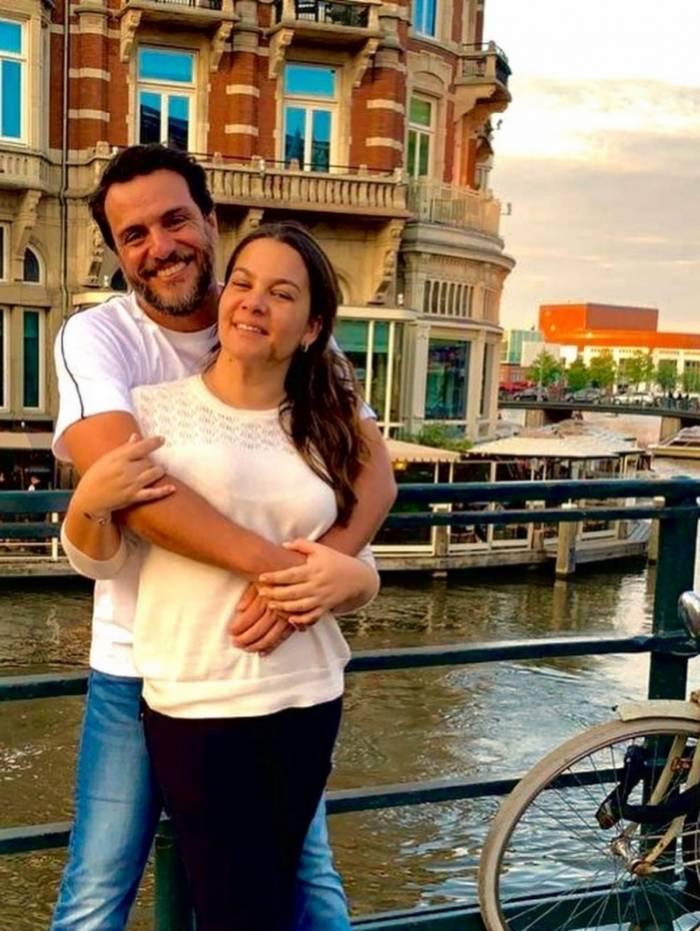 Rodrigo Lombardi e mulher