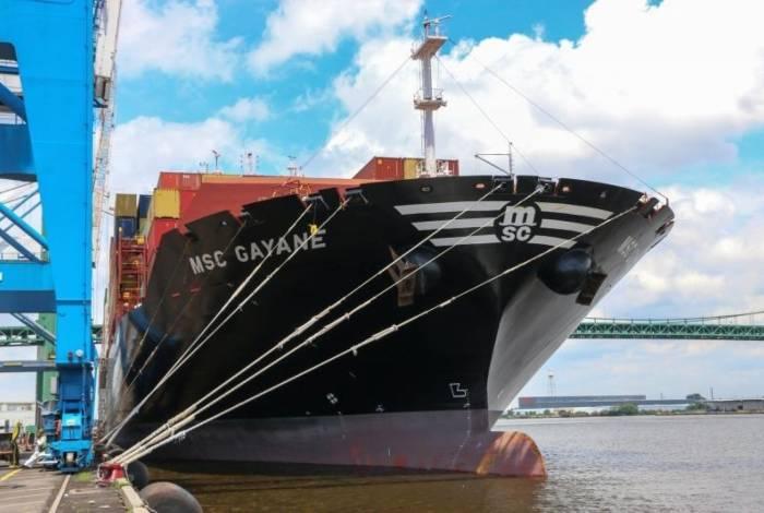 Navio MSC Gayane, onde a droga foi encontrada pelos policiais americanos