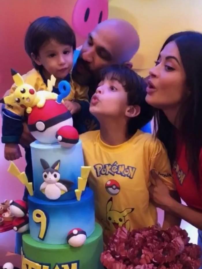 Aline Riscado comemora o aniversário de 9 anos do filho Nathan