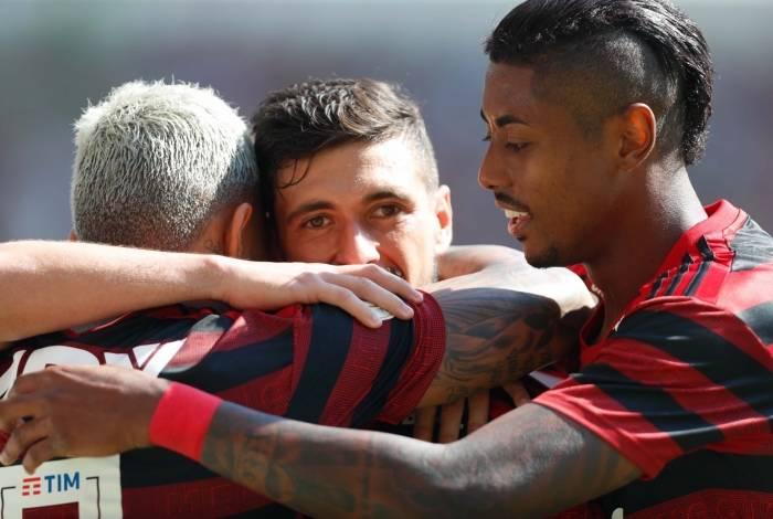 Rio, 14/07/2019, Flamengo x Goias, na foto gol do Gabigol, Foto de Gilvan de Souza / Agencia O Dia