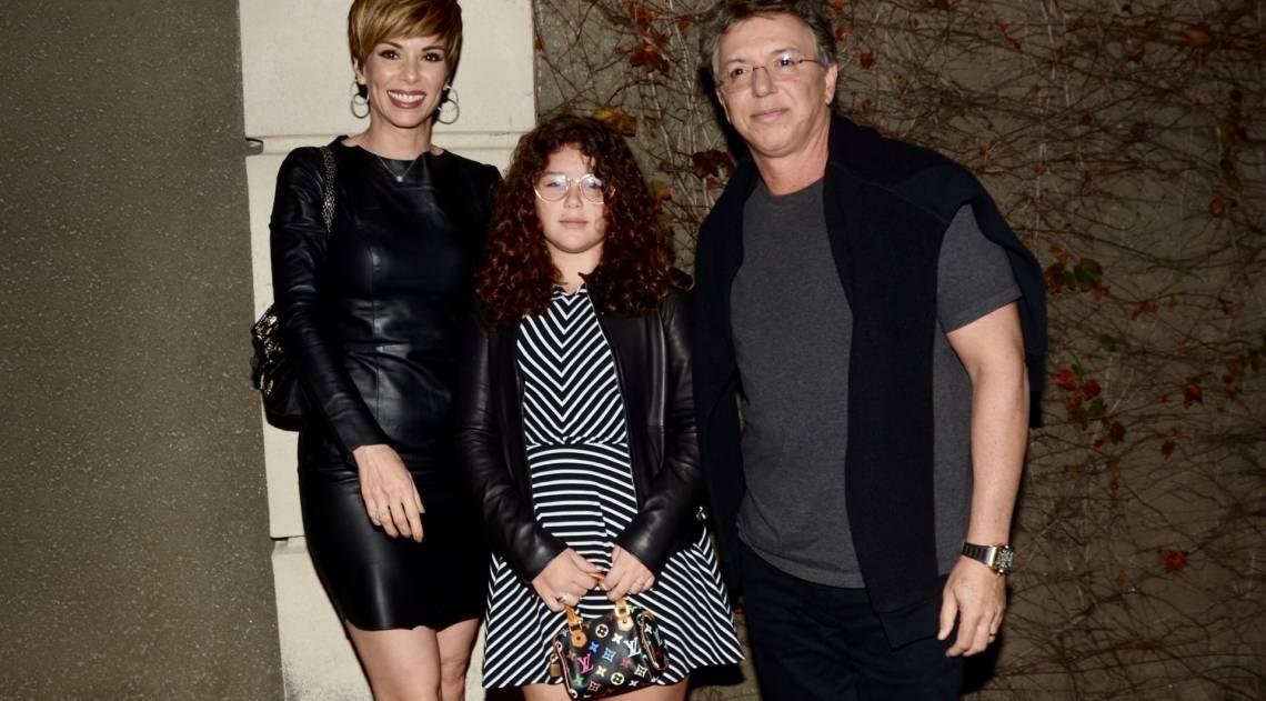 Ana Furtado e Boninho com a filha