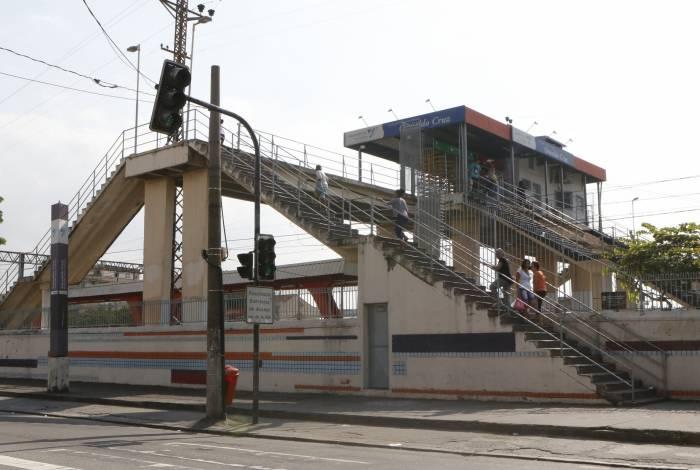 O roubo de cabos aconteceu na Estação Oswaldo Cruz