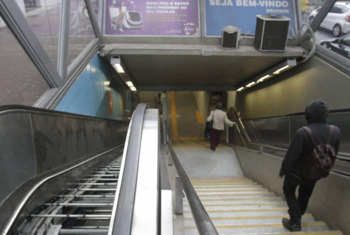Rio,16/07/2019 -TIJUCA- METRÔ, Estação Uruguai, 2 meses de escadas rolantes quebradas. Na foto, metrô da Rua Itacuruça, esquina co Conde de Bonfim .Foto: Cléber Mendes/Agência O Dia