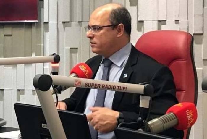 Governador falou sobre as milícias em entrevista na rádio Tupi
