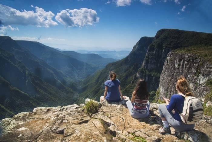 Vista de cânion no Rio Grande do Sul encanta turistas