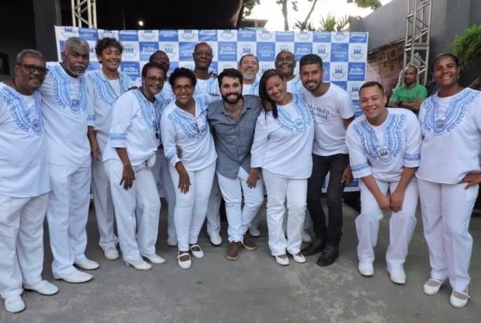 A Azul e Branco fará roda de samba para apresentar as candidatas