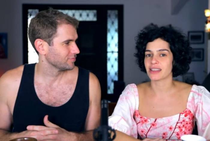 Emanuel Aragão e Maria Flor, em vídeo do canal 'Flor e Manu'