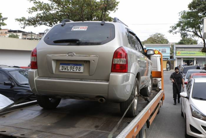 Veículo encontrado com os milicianos