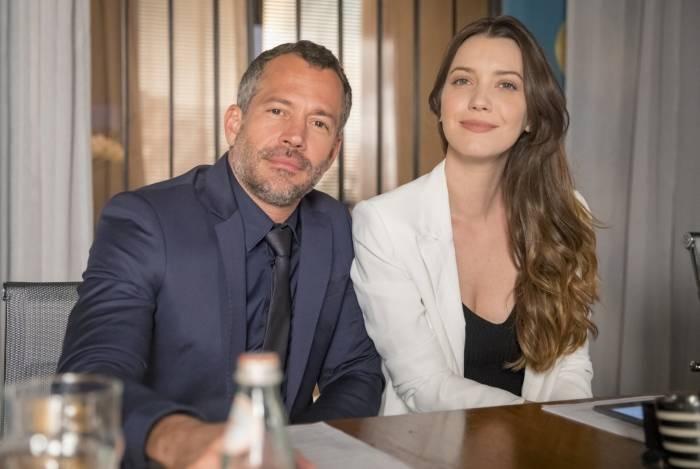 Agno (Malvino Salvador) e Fabiana (Nathalia Dill): ex-noviça anula procuração e fica com bens do executivo