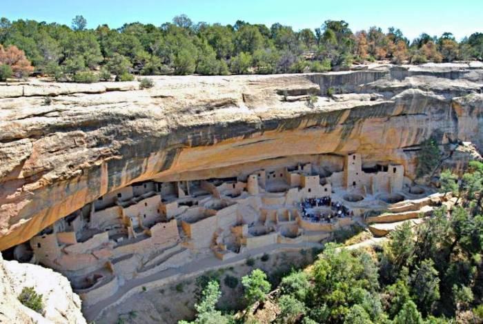 Moradias anasazis em Mesa Verde, Colorado