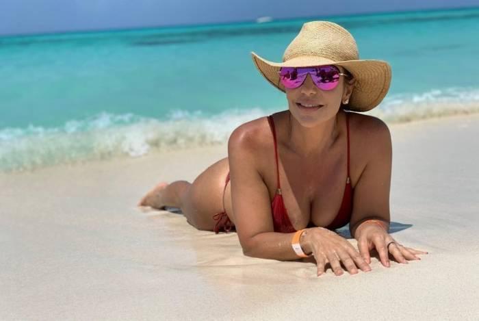 Ivete Sangalo na primeira parte de suas férias: Caribe