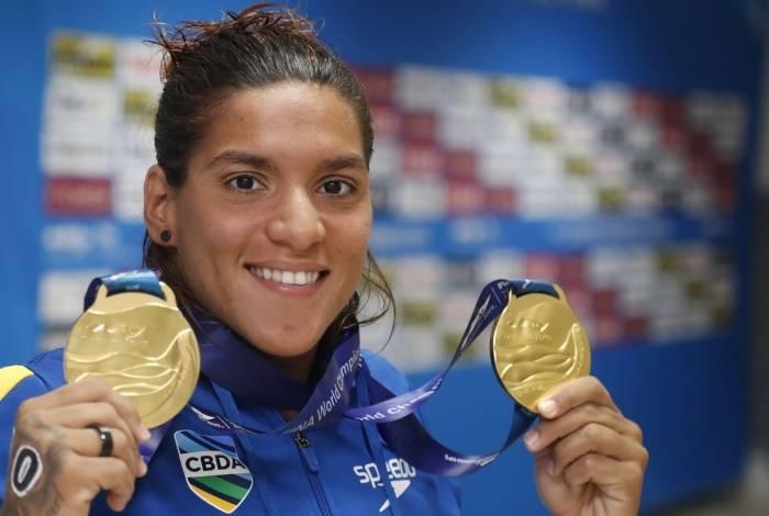 Ana Marcela confirmou a excelente forma no Mundial da Coreia do Sul: duas medalhas de ouro e vaga nos Jogos de Tóquio