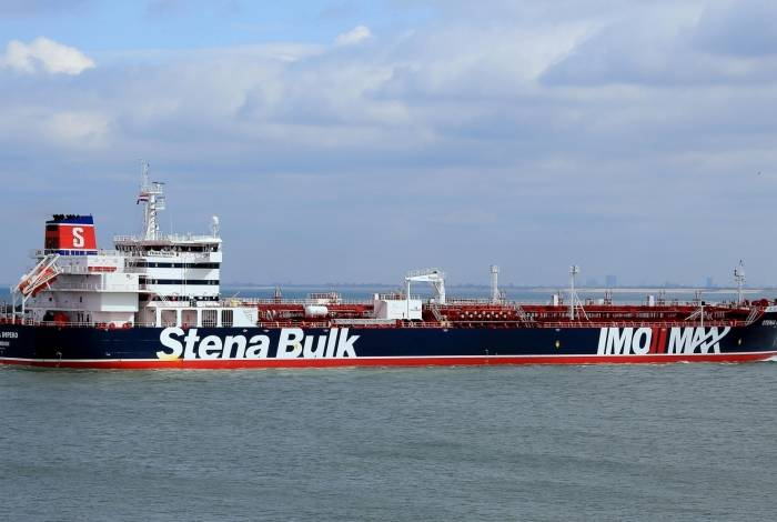 Navio petroleiro Stena Impero capturado pelo Irã no Estreito de Ormuz nesta sexta-feira