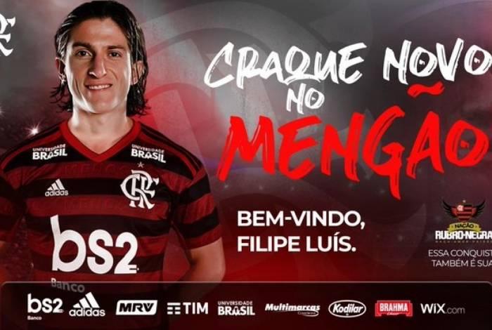 Filipe Luís é o novo reforço do Flamengo