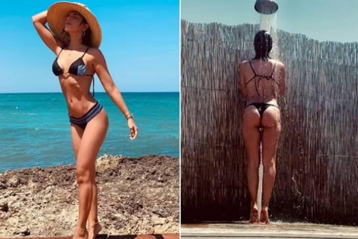 Mariana Rios curte férias na Itália