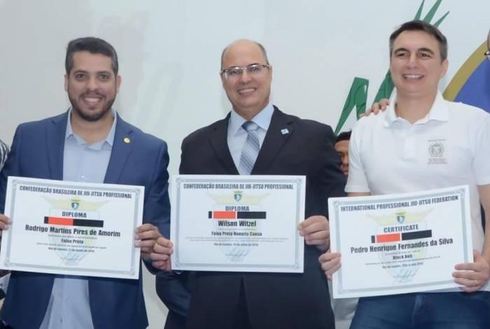 Rodrigo Amorim, Wilson Witzel e Pedro Fernandes