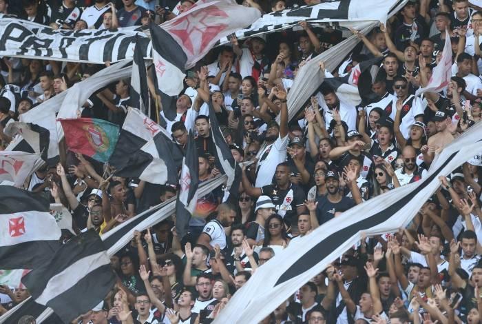 2019 - Torcida do Vasco no Estadio de Sao Januario no Rio de Janeiro. Foto: Daniel Castelo Branco / Agencia O Dia