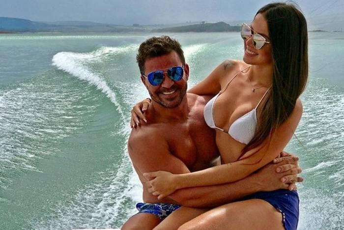 Eduardo Costa e a ex-noiva, Victoria Villarim